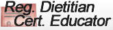 Lesley Lovely is a Registered Dietitian -  Certified Diabetes Educator